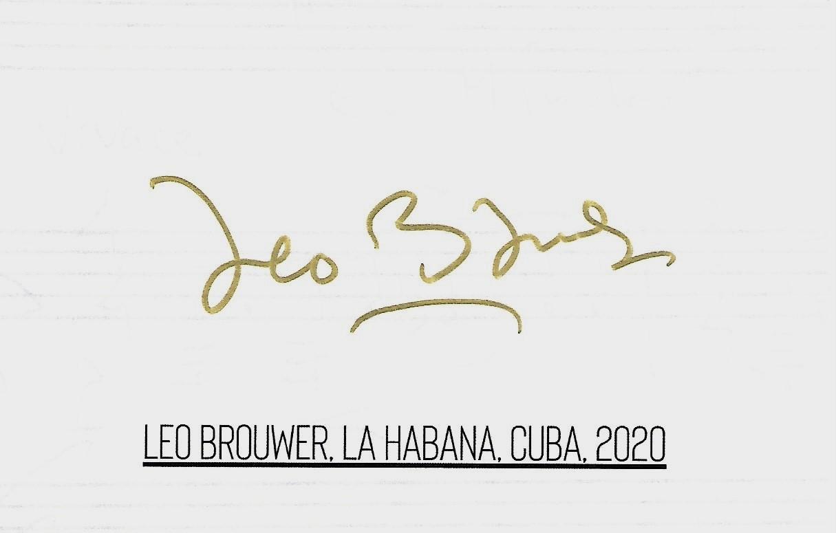 leo autograph back